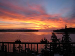 Sunset view from the Lodge at Kettle Falls.