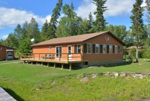 An exterior photo of our large pro-tackle shop at Kettle Falls fishing resort.