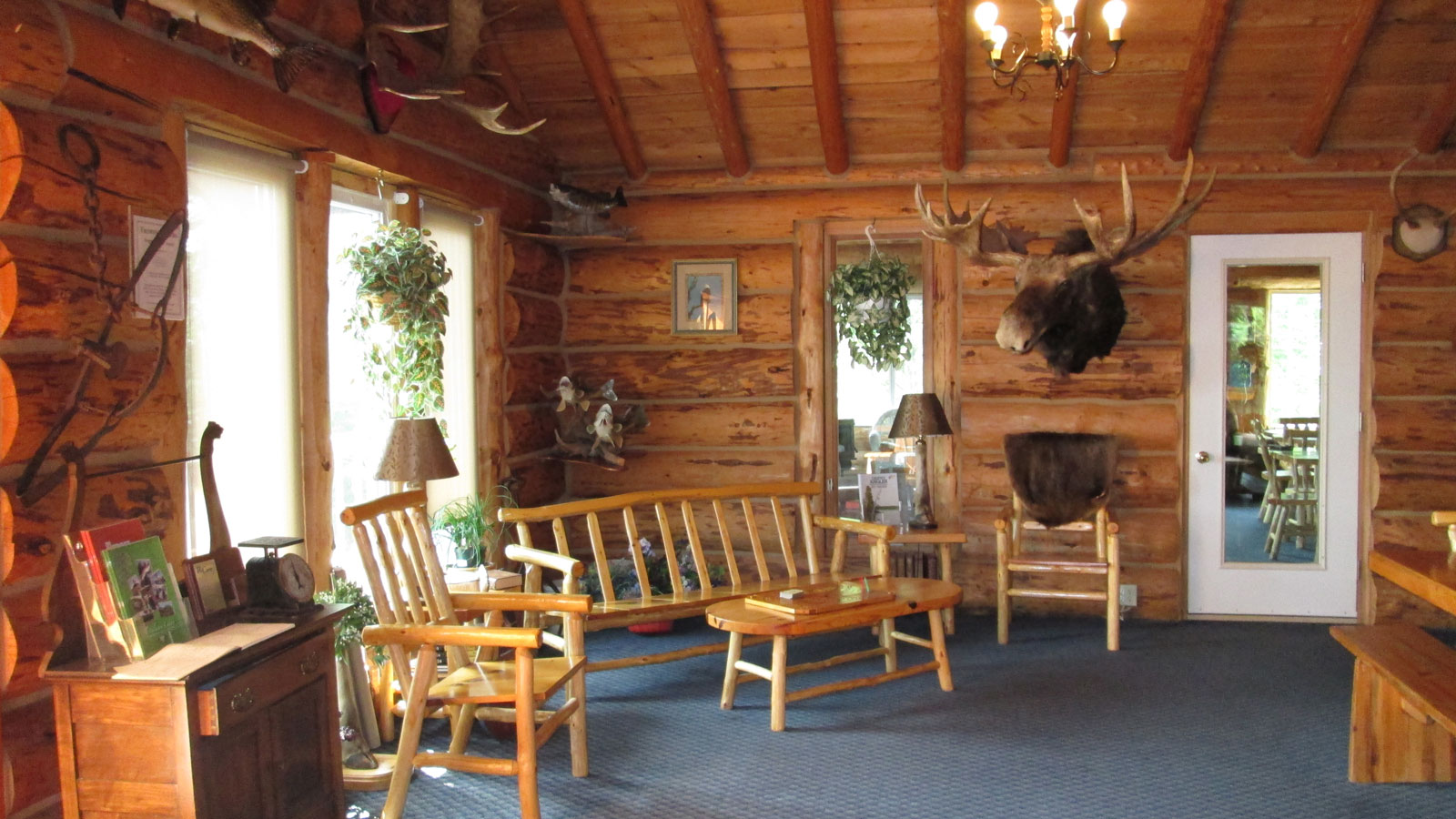 Inside the Lodge at Kettle Falls.